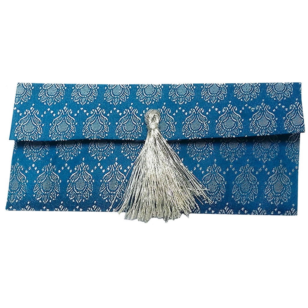 Blue Banarsi Envelope