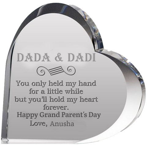 Grandparents Engraved Heart