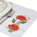 Pumpkin Embroidered Square Place Mats
