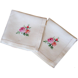 Pink Rose Square Place Mats
