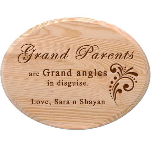 Grand Parent's Wooden Plaque 1