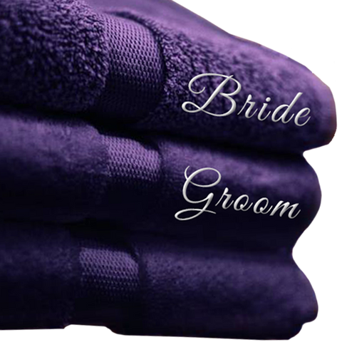 Bride & Groom Towel Set