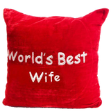 World's best Wife Pillow