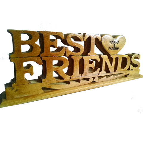 Best Friends Wooden Keepsake
