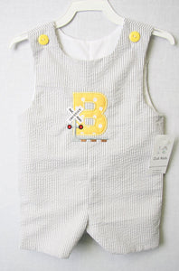 Baby Boy Clothes | Railroad Birthday Party |Train Birthday | Baby Jon Jon | Baby Longalls | Baby Boy Twin Clothing | Baby Shortalls  292176