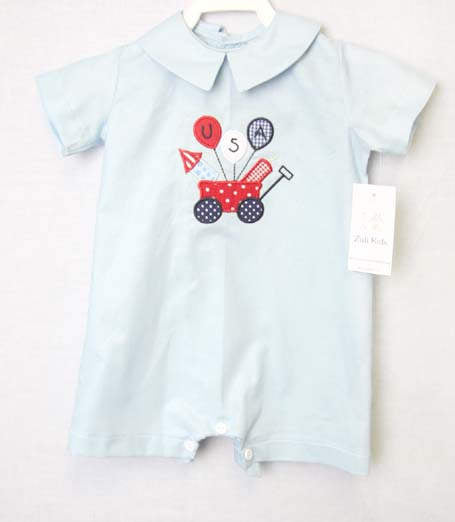 Fourth of July Outfit | Fourth July Romper | 4th July Outfit | Baby Boy Clothes | 4th July Baby | July 4th Childrens Clothing 292493