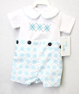 Baby Boy | Baby Clothes | Baby Boy Clothes | Easter Outfit | Newborn Romper | Toddler Twins | Twin Babies | Kid Clothes | Argyle | 292779