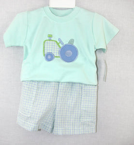 Baby Boy Clothes |Baby Boy Shorts Suit |Tractor Shirt |Tractor Birthday |Toddler Short Suit | Birthday Shirt  Brother Brother Outfits291385