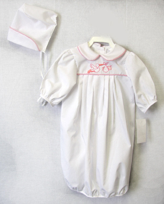 Newborn Baby Girl Gown | Infant Baby Gowns | Baby Name Gown | Baby ...