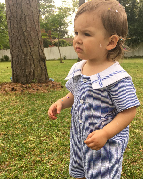 Baby Boy Clothes | Sailor Suit |  Baby Boy Bubble | Baby Boy Romper | Baby Romper Boy | Baby Bubble Romper | Toddler Romper  291818