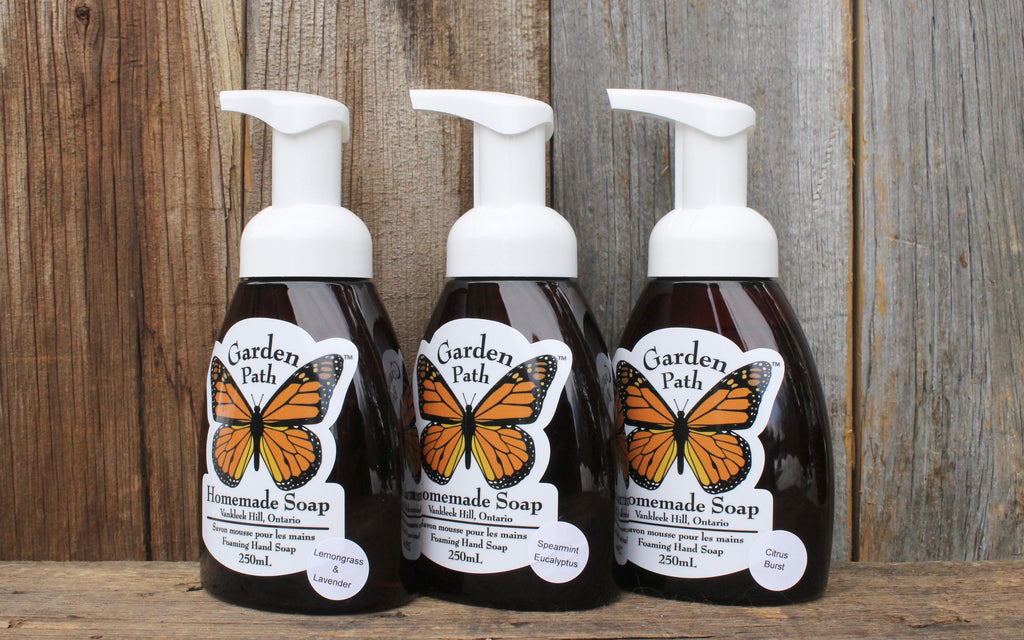 All-Natural Foaming Hand Soap - Garden Path Homemade Soap - Made in Canada