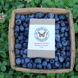 Blueberry Oatmeal Bar Soap | Naturally Exfoliating Soap Scented with Blueberry Fragrance - Garden Path Homemade Soap