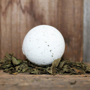 Breathe Bath Bomb (seasonal) | 100% Natural Essential Oils & Mint Leaves - Garden Path Homemade Soap