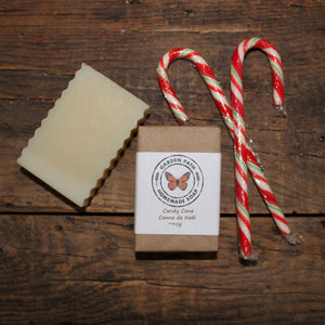 Candy Cane Bar Soap(limited time) | Lightly Scented Holiday Favourite - Garden Path Homemade Soap