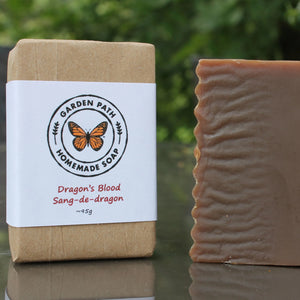 Dragon's Blood Bar Soap | Lightly Scented with Dragon's Blood Fragrance - Garden Path Homemade Soap