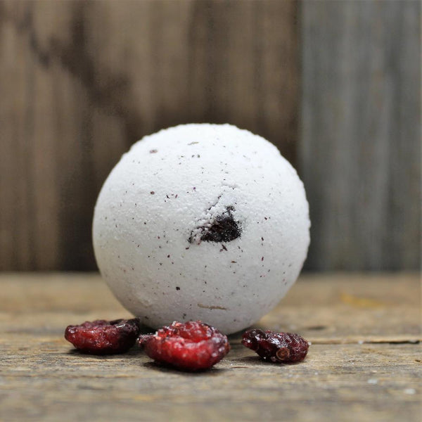 Frosted Winterberry Bath Bomb (seasonal) | Holiday Tub Favourite - Garden Path Homemade Soap