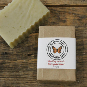 Healing Woods Bar Soap | 100% Natural Essential Oil & Ingredients | Outdoor & Camping Bar - Garden Path Homemade Soap