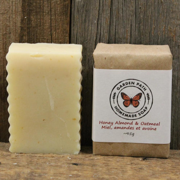 Honey Almond & Oatmeal Bar Soap | Gentle Exfoliating Bar Soap