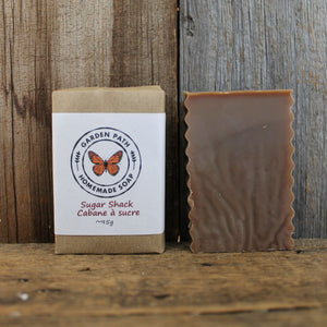 Sugar Shack Bar Soap | Lightly Scented Maple Fragrance & Natural Maple Sugar Sand - Garden Path Homemade Soap
