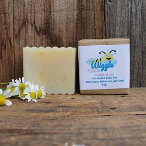 Wiggle Baby Bar by Garden Path Homemade Soap | 100% Natural Ingredients | Unscented - Garden Path Homemade Soap