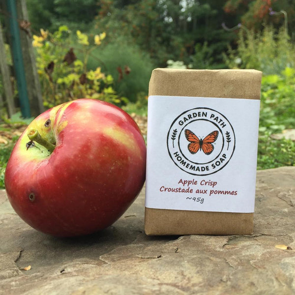 Apple Crisp Bar Soap(limited time) | Exfoliating with Spicy Fragrance Oils - Garden Path Homemade Soap