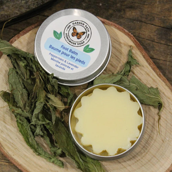 Foot Balm | 100% Natural Ingredients | Intense Moisturizer - Garden Path Homemade Soap