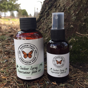 Outdoor Spray | 100% Natural Essential Oil Blend - Garden Path Homemade Soap
