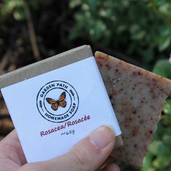 Facial Bar Soap - Rosacea | 100% Natural Anti-Inflammatory Ingredients - Garden Path Homemade Soap