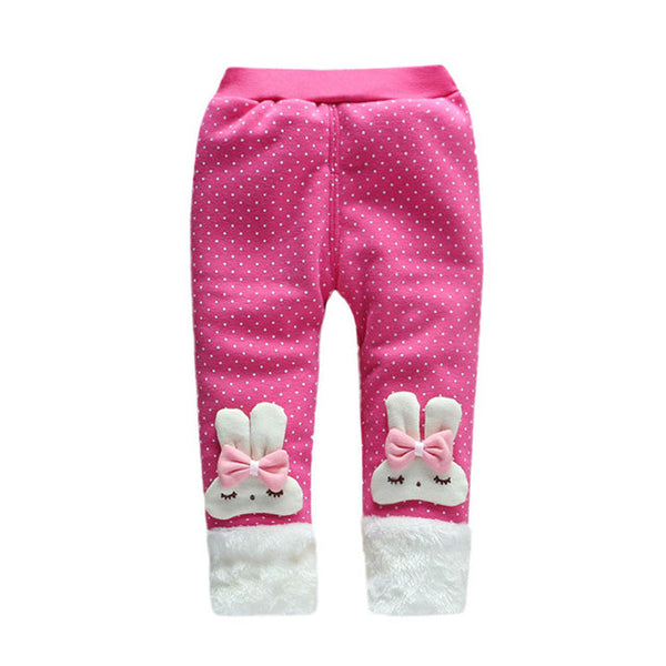 Trendy Leg Warmer Baby Girl Pants Child Cartoon Bowknot Pants Trousers Legging New Baby Autumn Winter Warm Pants Cute Bunny Pant