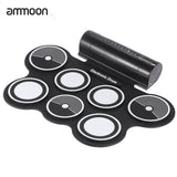 Electronic Drum Pad Set Digital Roll-up Drums Kit Foldable Silicone USB Foot Pedal Percussion Instrument RU Warehouse