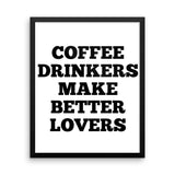 Coffee Drinkers Framed poster