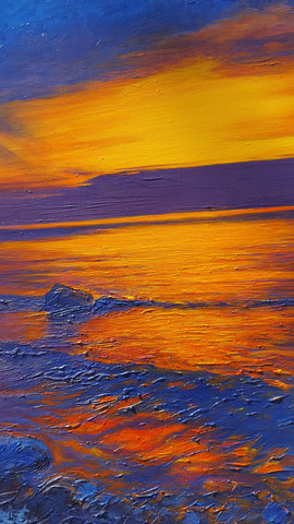Detail of Lake Sunset Painting No. One