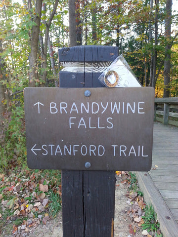 Standford Trail Sign Post Brandywine Falls, Ohio