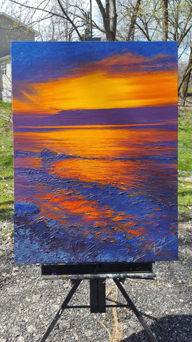 Lake Sunset Painting No. 1