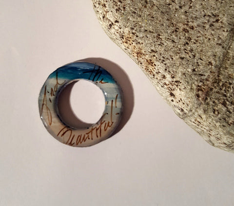 One Handmade Find the Beautiful View Finder Ring, Charm, Gratitude, Compositition Finder
