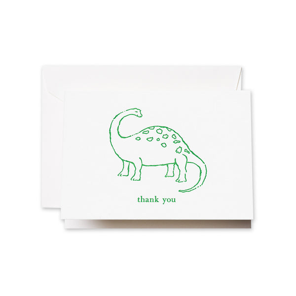 Letterpress Dinosaur Thank You Note