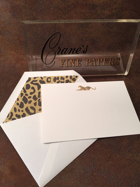 Crane's Safari Collection Correspondence Cards - Leopard - CC3522