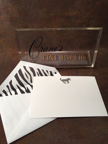 Crane's Safari Collection Correspondence Cards - Zebra - CC3524