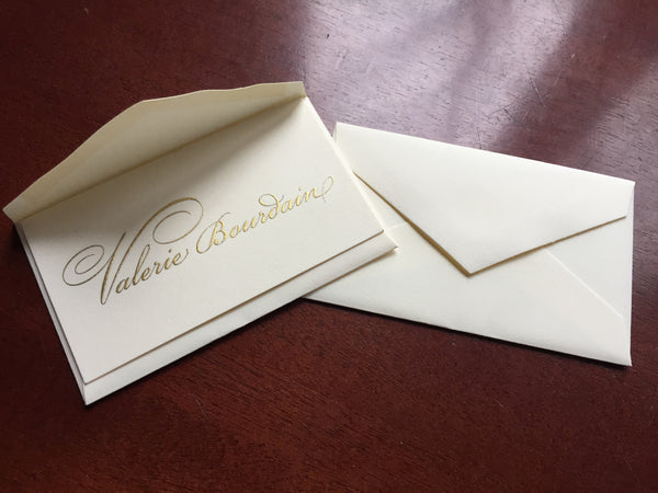 Personal Calling Cards - Genuine Engraved