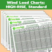 Wind Load Charts - HIGH-RISE Standard