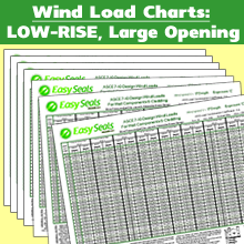 Wind Load Charts - LOW-RISE Large Opening