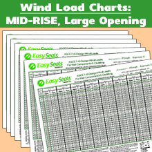 Wind Load Charts - MID-RISE Large Opening