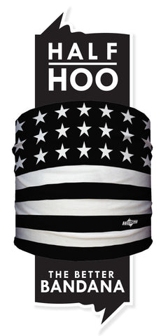 Black and White American Flag - Hoo-rag