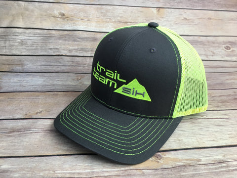 Trail Team Six - Neon Yellow and Gray Trucker Hat