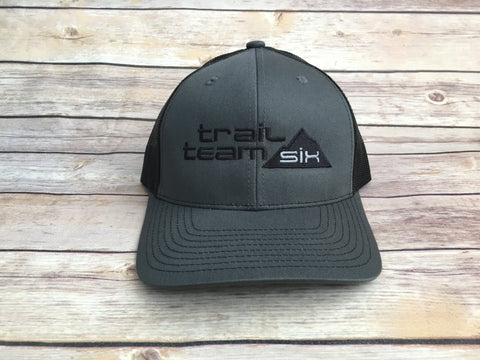 Trail Team Six - Black and Gray Trucker Hat