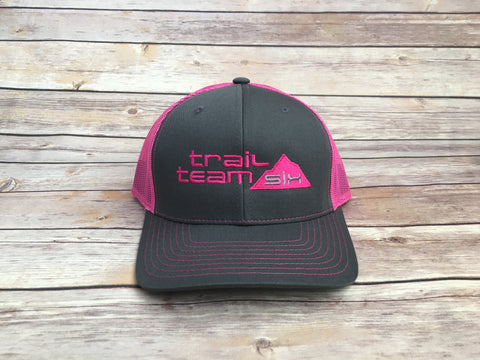 Trail Team Six - Neon Pink and Gray Trucker Hat