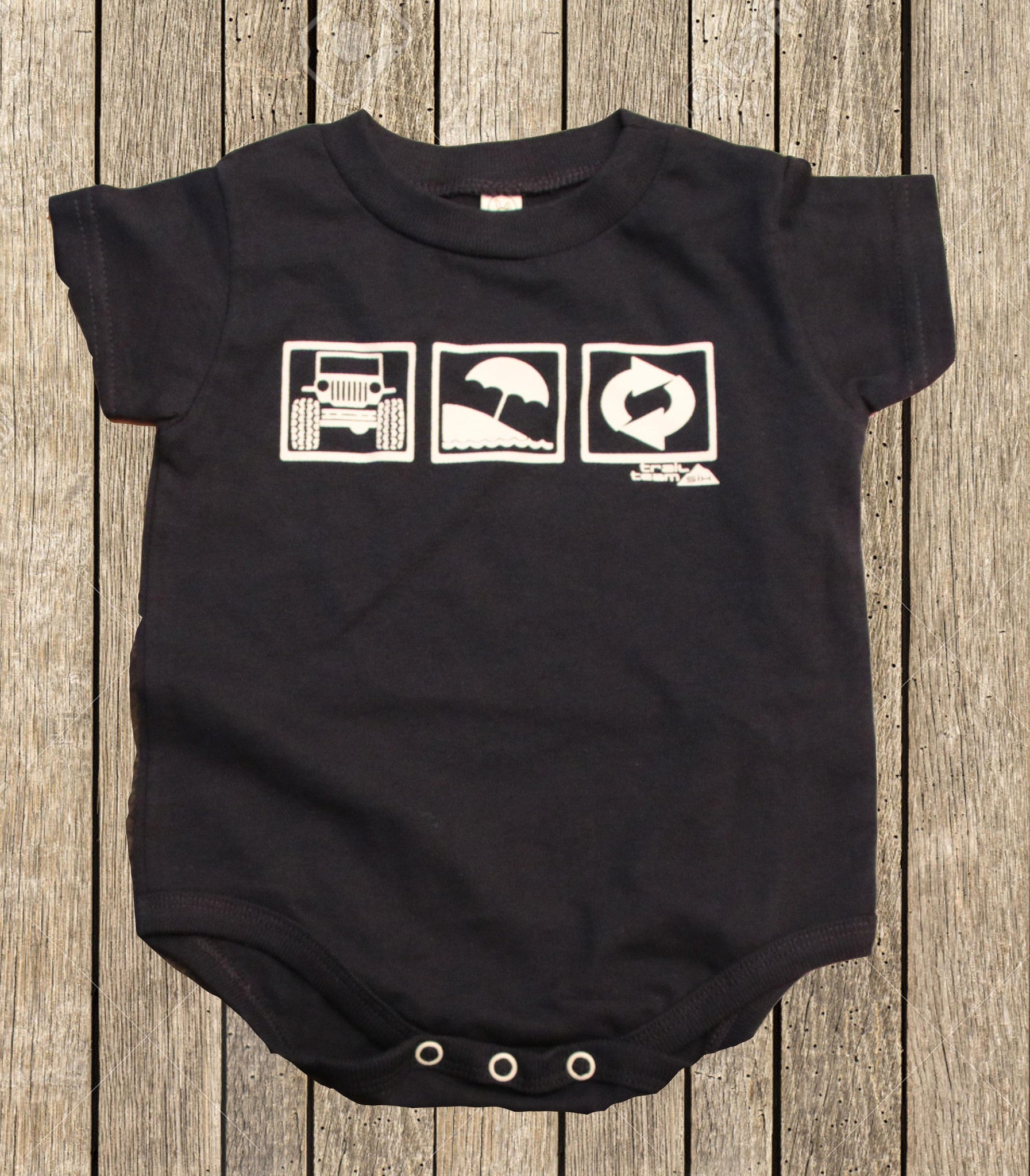 Jeep Beach Repeat - Infant Onsie