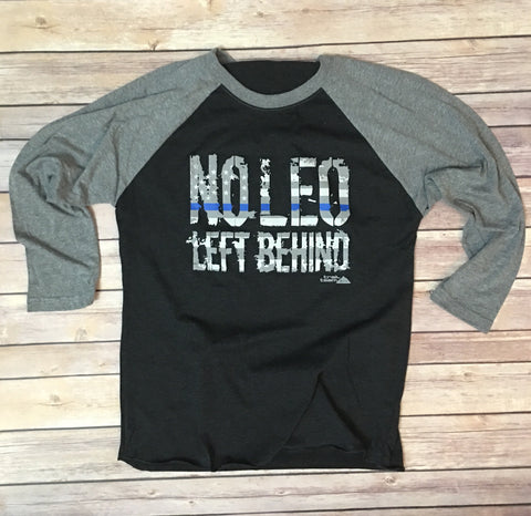 No LEO Left Behind - Unisex Baseball Tee