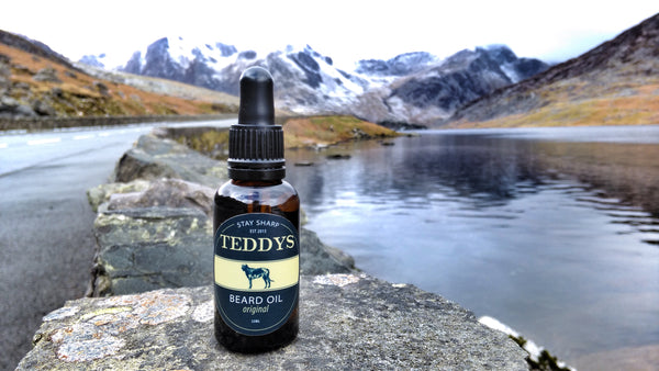 Teddy's Welsh Beard Oil in Snowdonia North Wales