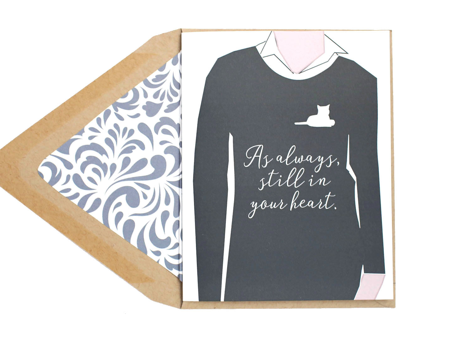 still in heart cat sympathy card stilldez